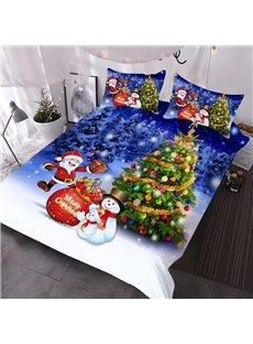 Christmas Tree 3D Comforter Festival Themed 3-Piece Soft Comforter Sets