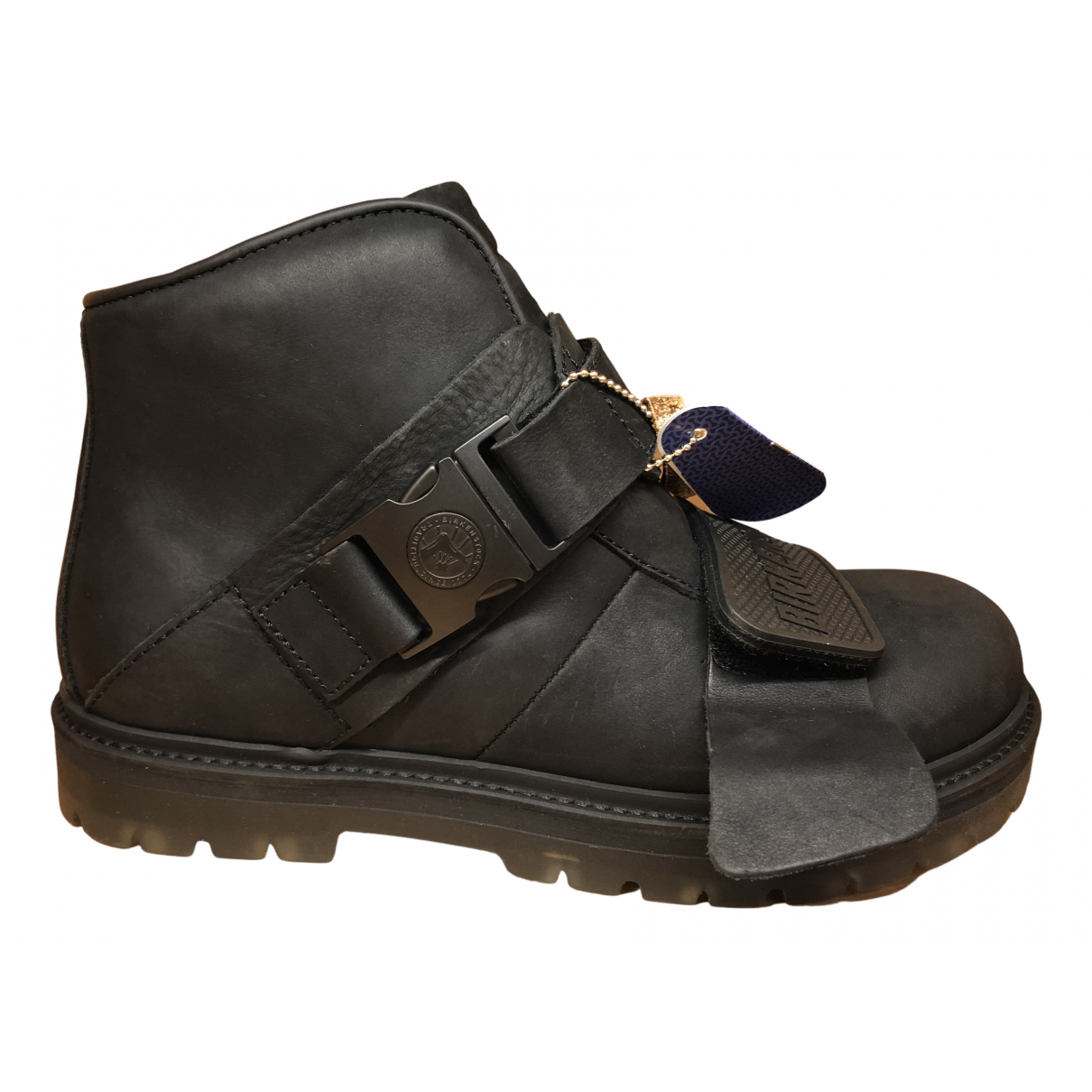 Rick Owens N Black Leather Boots for Women 41 EU
