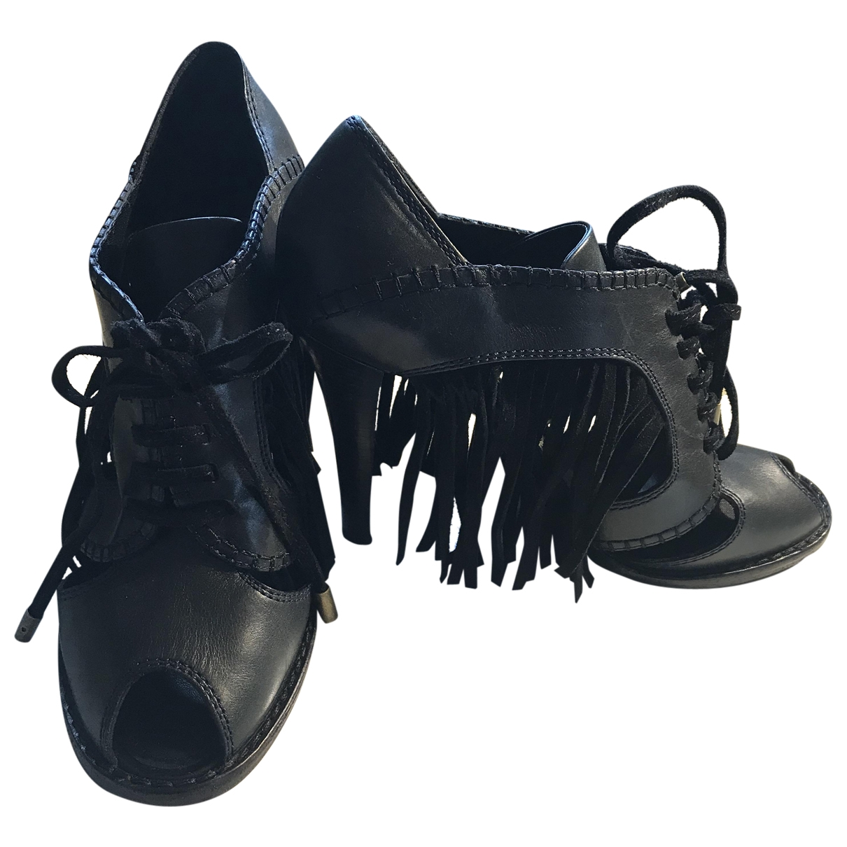 Louis Vuitton \N Black Leather Sandals for Women 40 EU