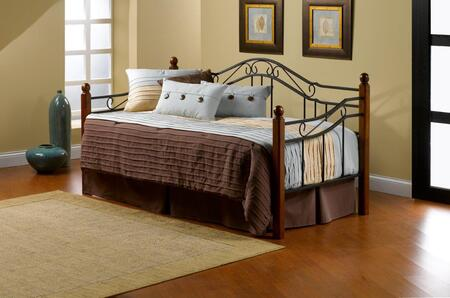 1010DB Madison Daybed with Metal  Square Hardwood Posts  Black Metal Grills and Round Wire Spindles in Black and