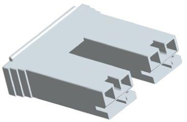 TE Connectivity Positive Lock .250 Mk II Series, 2 Way Nylon 66 Crimp Terminal Housing, 6.35mm Tab Size, Natural (50)