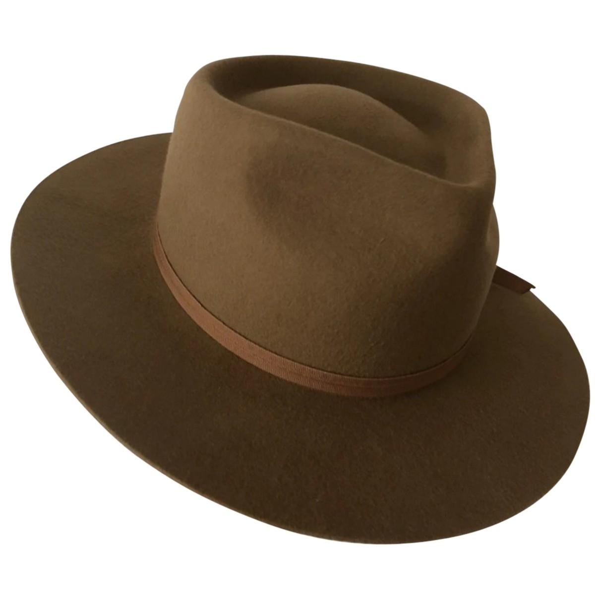 Lack Of Colour - Chapeau & Bonnets   pour homme en laine - camel