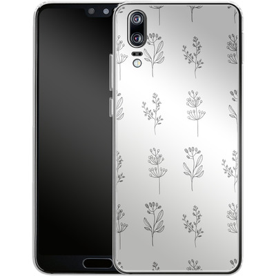 Huawei P20 Silikon Handyhuelle - Botanic Studies von Lucy Bohr