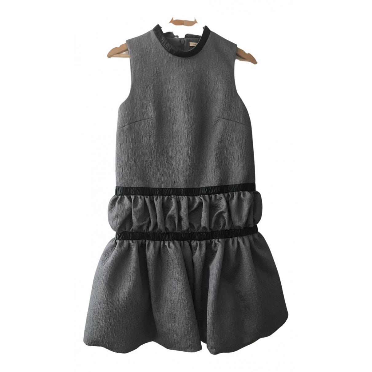 Christopher Kane \N Kleid in  Grau Polyester