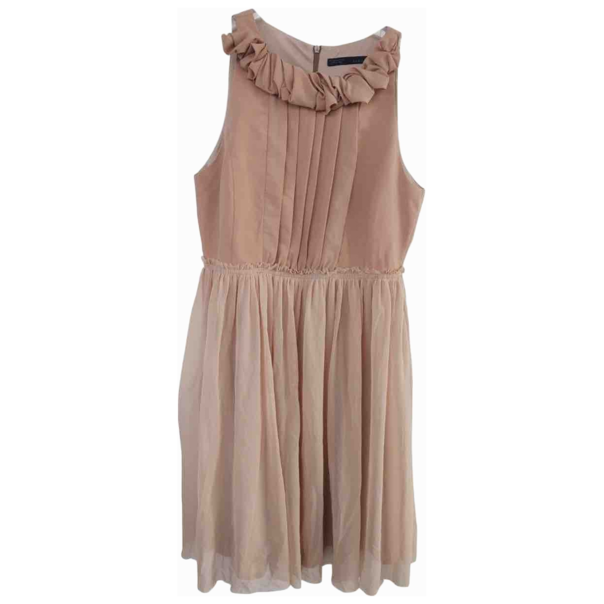 Zara \N Beige Silk dress for Women S International