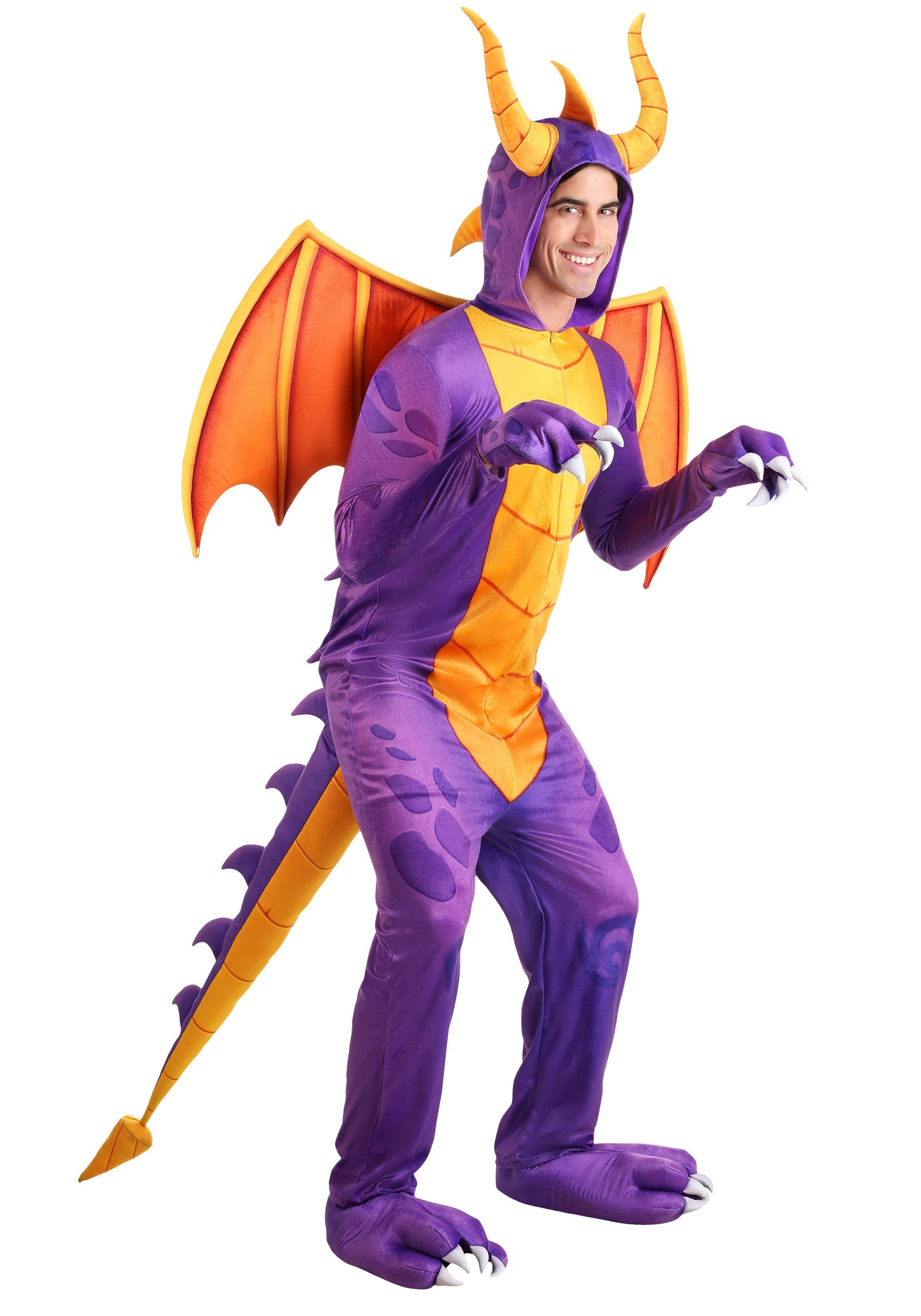 Spyro the Dragon Costume Jumpsuit for Adults