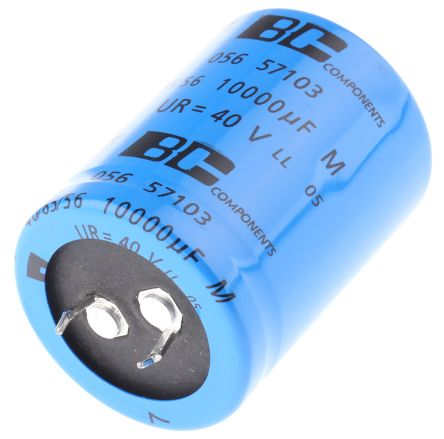 Vishay 10000μF Electrolytic Capacitor 40V dc, Through Hole - MAL205657103E3
