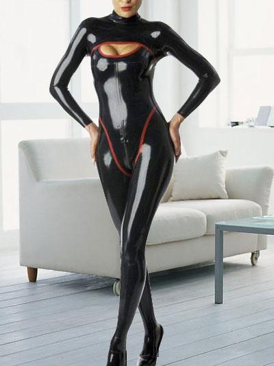 Milanoo Disfraz Halloween Sexy Latex Negro Largas Mangas Catwoman Body Halloween Disfraz Cosplay Halloween