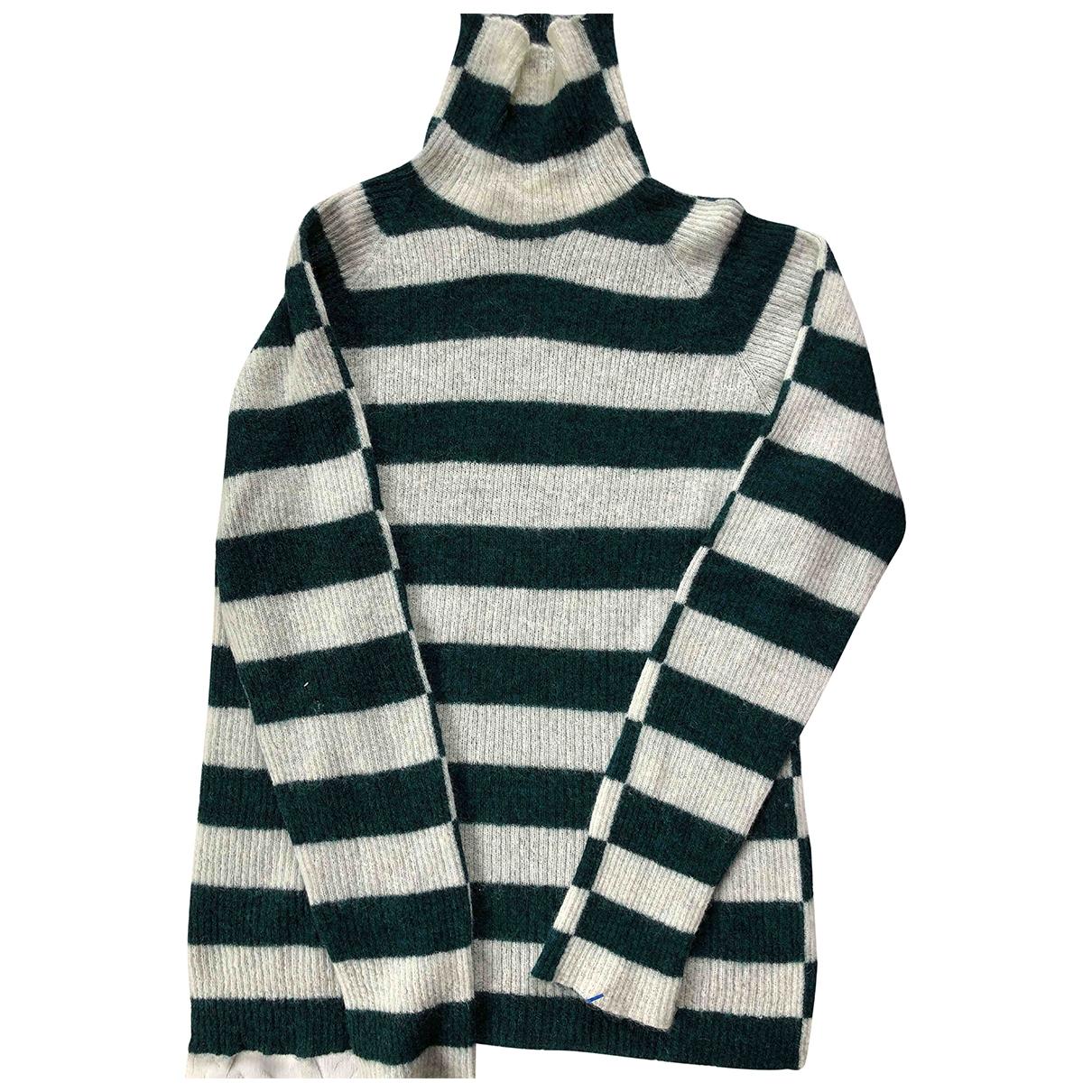 Momoni - Pull   pour femme en laine - vert