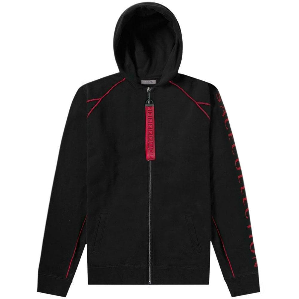 Versace Collection Contrast Trim Hoodie Colour: BLACK, Size: EXTRA LAR