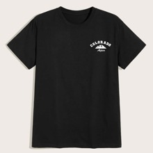 Guys Letter Graphic Black Tee