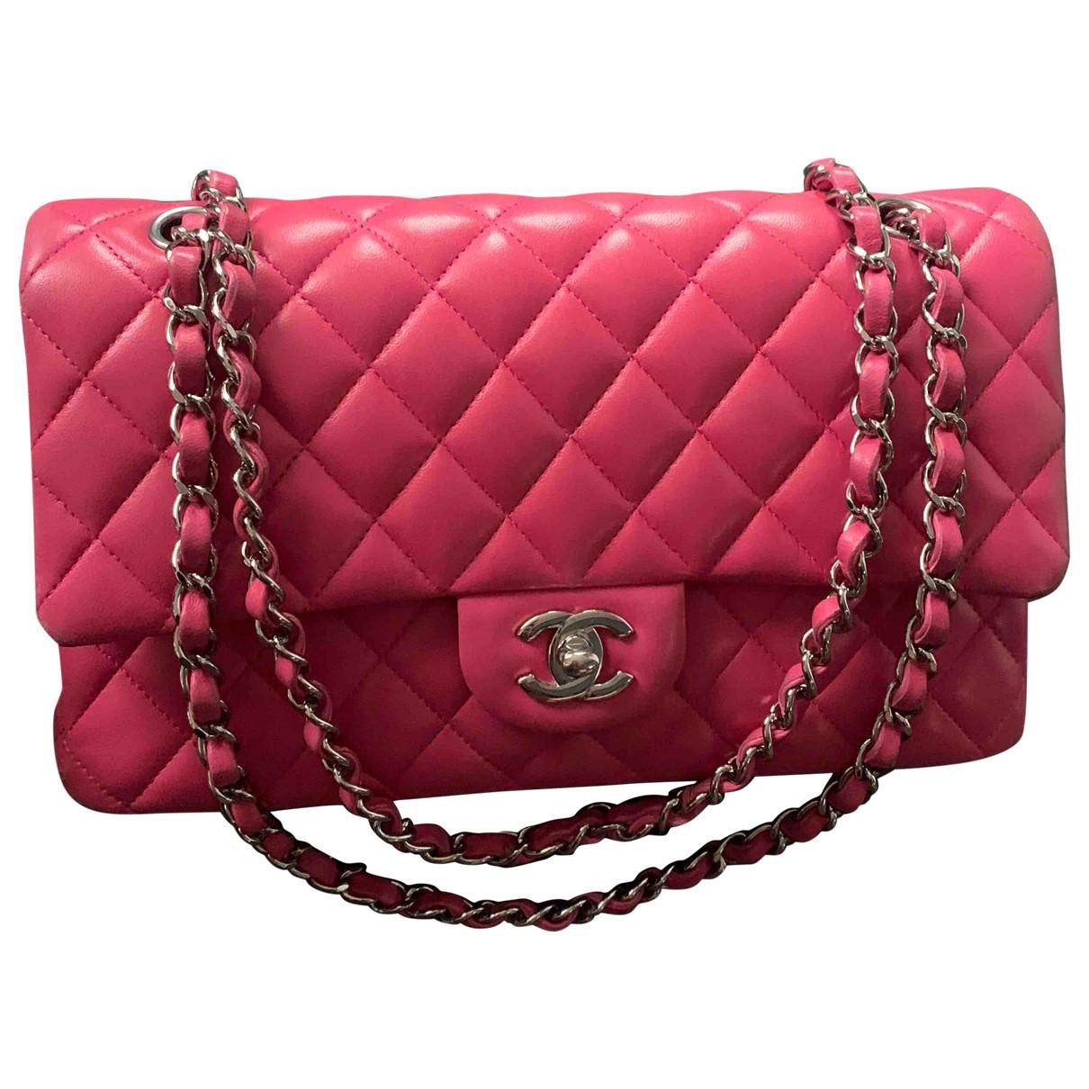 Chanel - Sac a main Timeless/Classique pour femme en cuir - rose