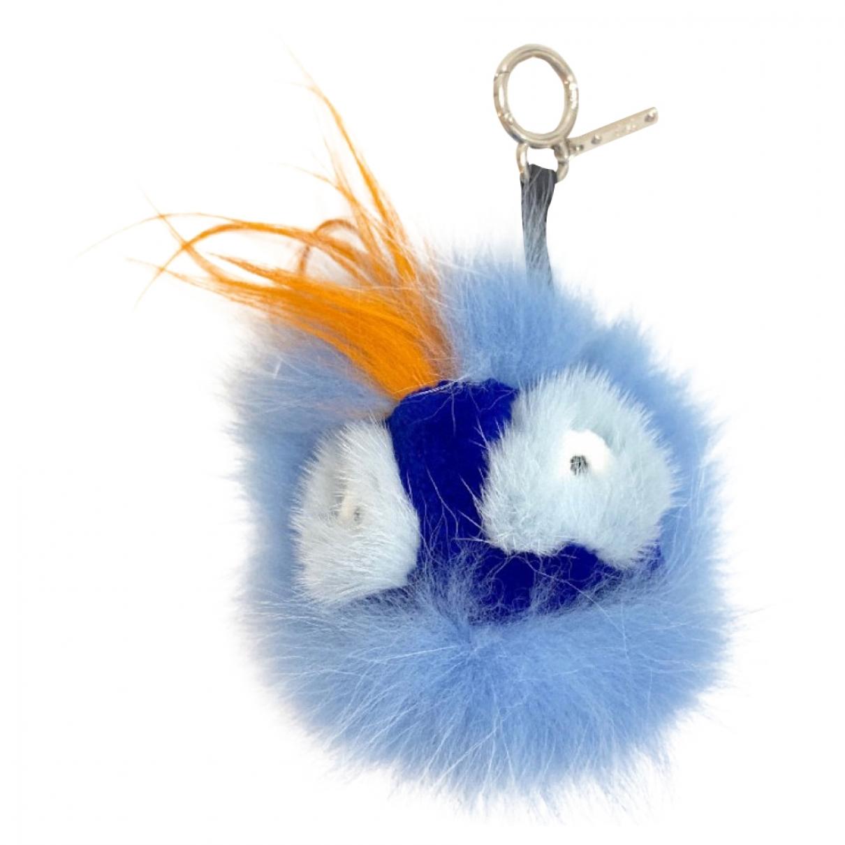 Fendi Bag Bug Taschenschmuck in  Blau Fuchs