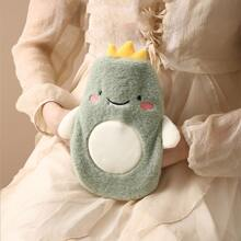 1pc Hot Water Bag With Plush Cartoon Cover