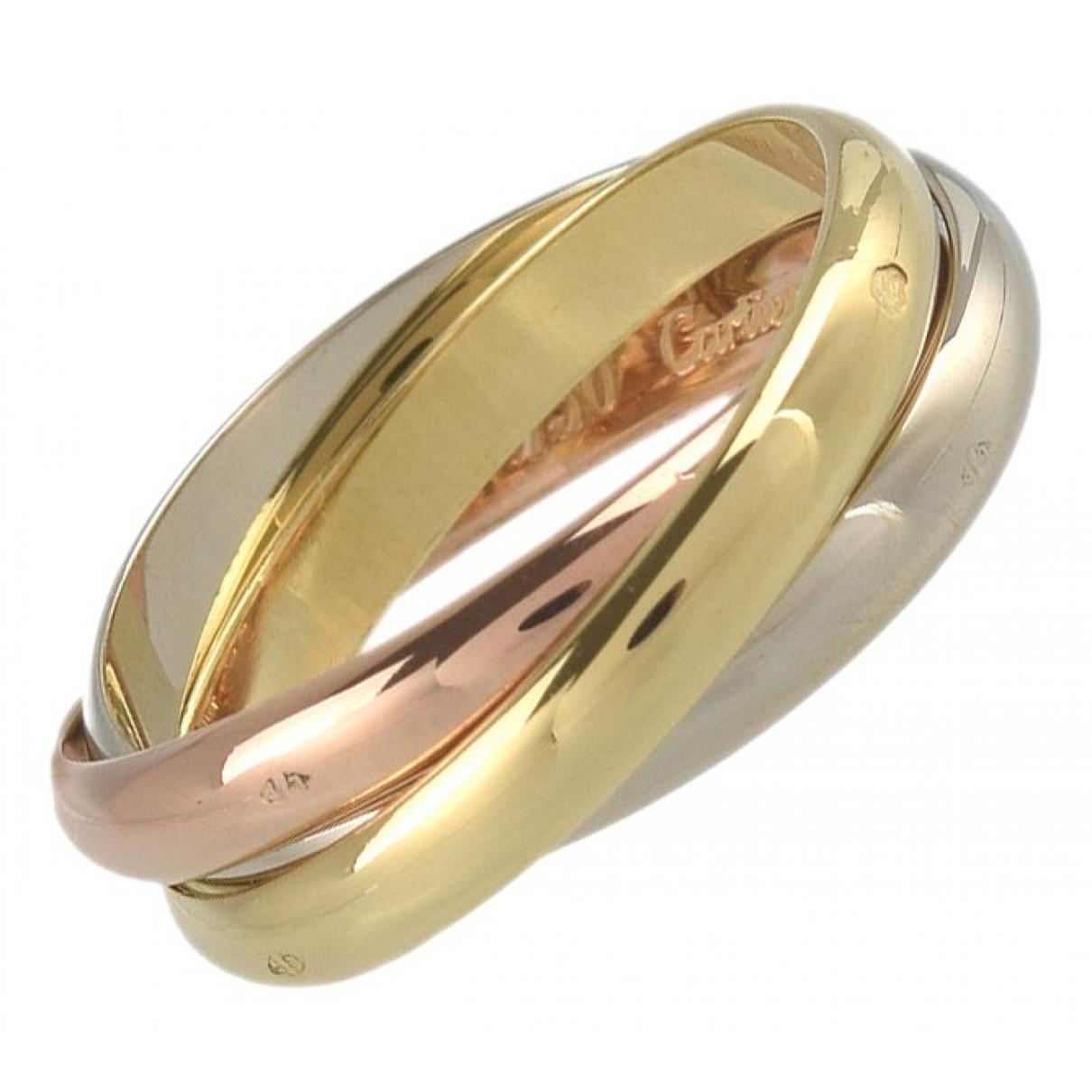 Cartier - Bague Trinity pour femme en plaque or - dore
