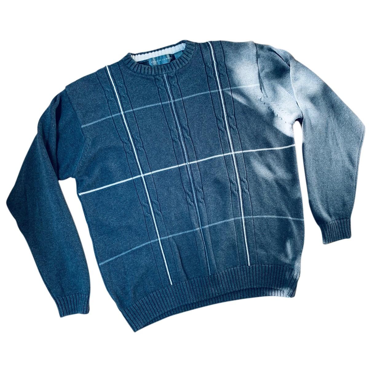 Oscar De La Renta N Grey Cotton Knitwear & Sweatshirts for Men 52 IT