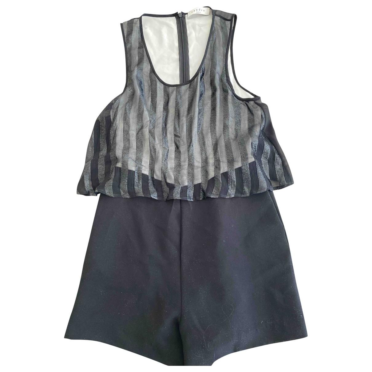 Sandro \N Black Silk jumpsuit for Women 1 0-5