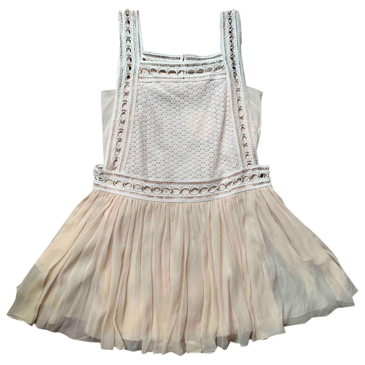 Chloe - Robe   pour femme en soie - rose