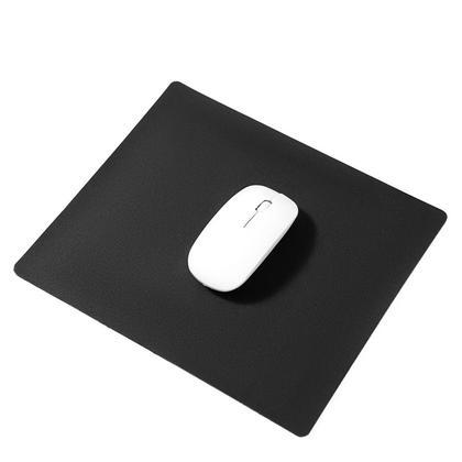 Tapis de souris pastel, tapis de souris en cuir PU antidérapant, 300mm x 250mm - Noir
