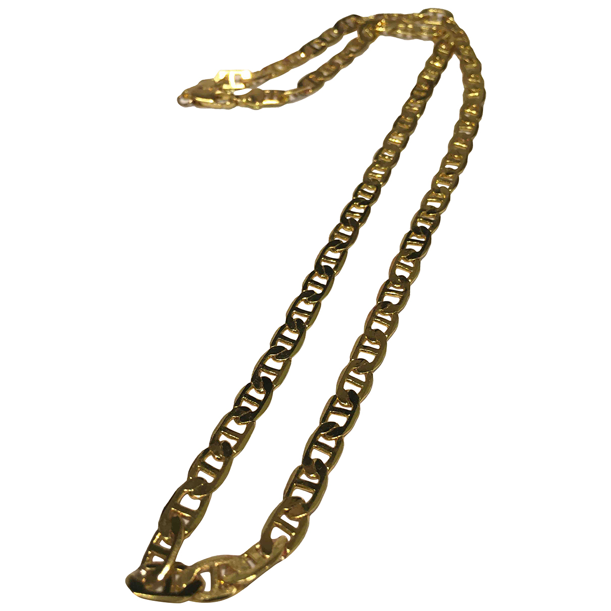 - Collier  Maille Americaine pour femme en plaque or - dore