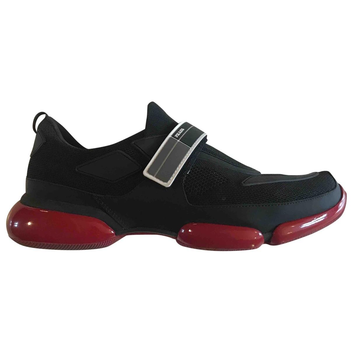 Prada Cloudbust Black Cloth Trainers for Men 8.5 UK