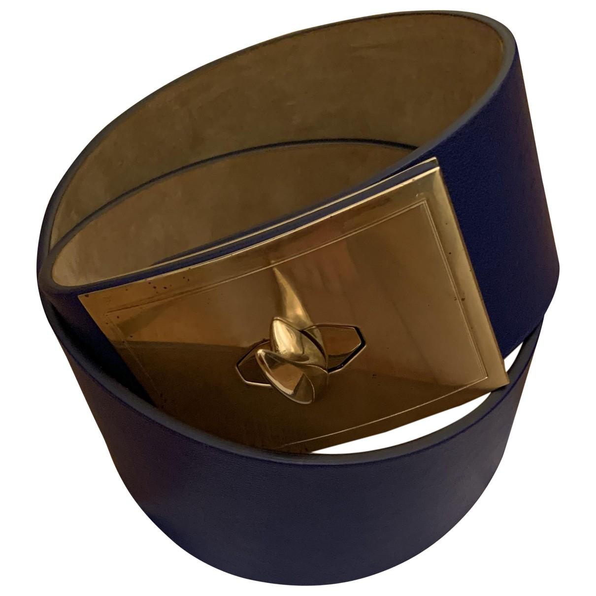 Givenchy \N Guertel in  Blau Leder