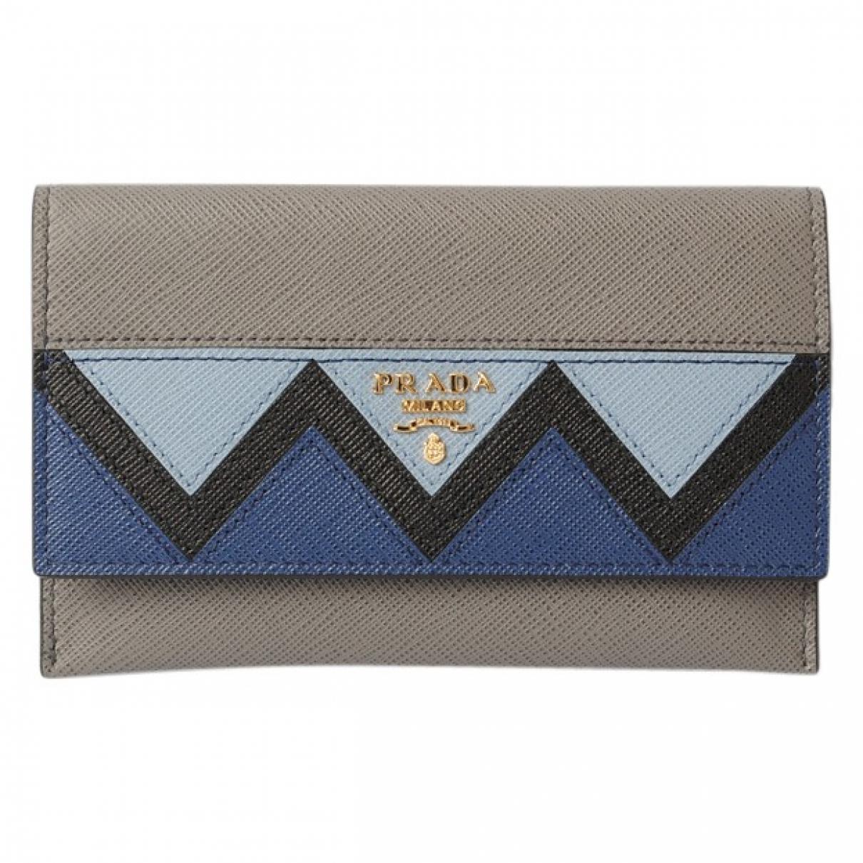 Prada \N Grey Leather Purses, wallet & cases for Women \N