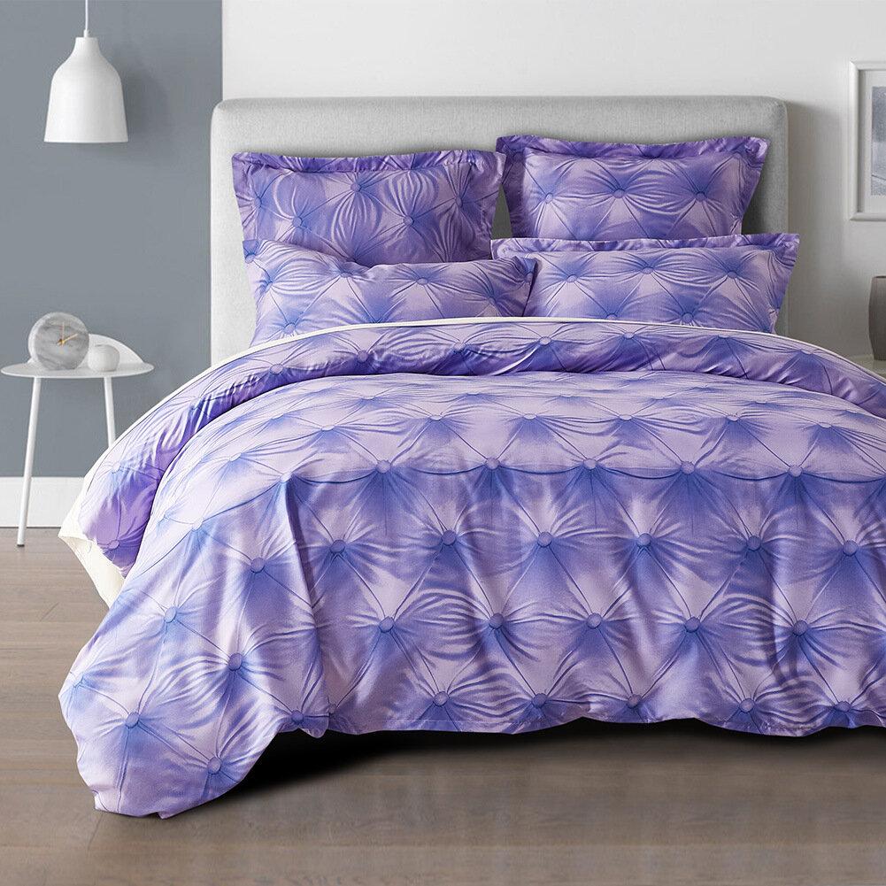 3D Button Pattern Quilt Cover US Standard Size Comforter Sets Luxury Bedding Sets