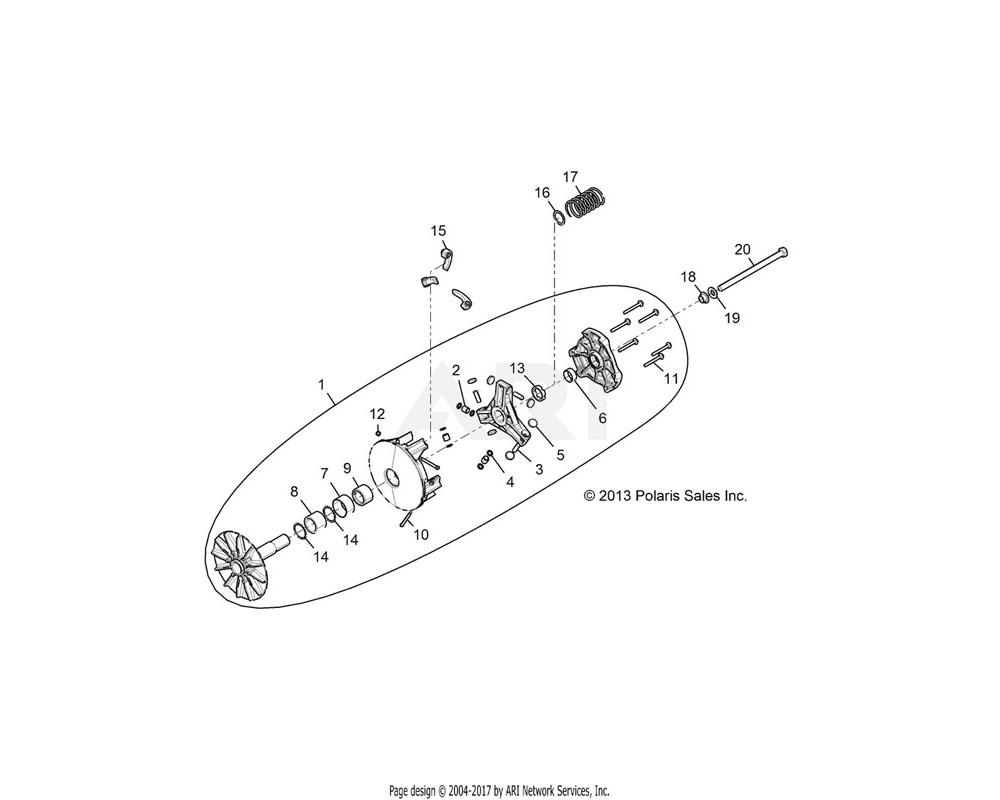 Polaris OEM 7520531 SCR-HXFL-M14X1.5X215 8.8 SPC