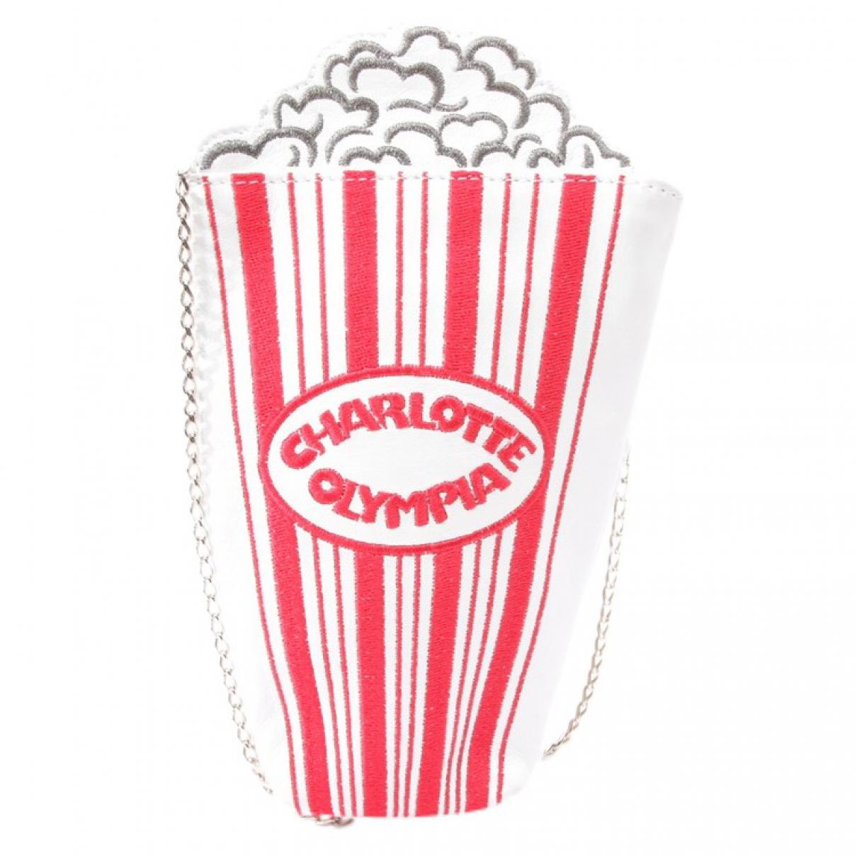 Charlotte Olympia - Pochette   pour femme en cuir - blanc