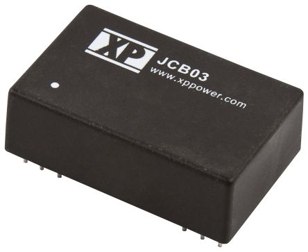 XP Power JCB 3W Isolated DC-DC Converter Through Hole, Voltage in 9 → 18 V dc, Voltage out 24V dc
