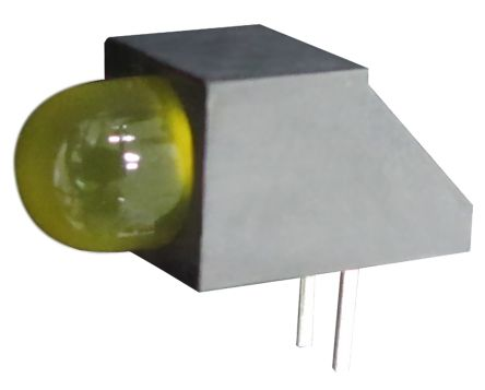 Kingbright L-1503CB/1LYD, Yellow Right Angle PCB LED Indicator, Through Hole 2.5 V (20)