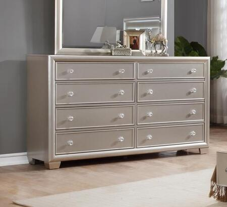 Mariano Collection MA800-DR Dresser with 8 Drawers and Drawer Knobs in Champagne