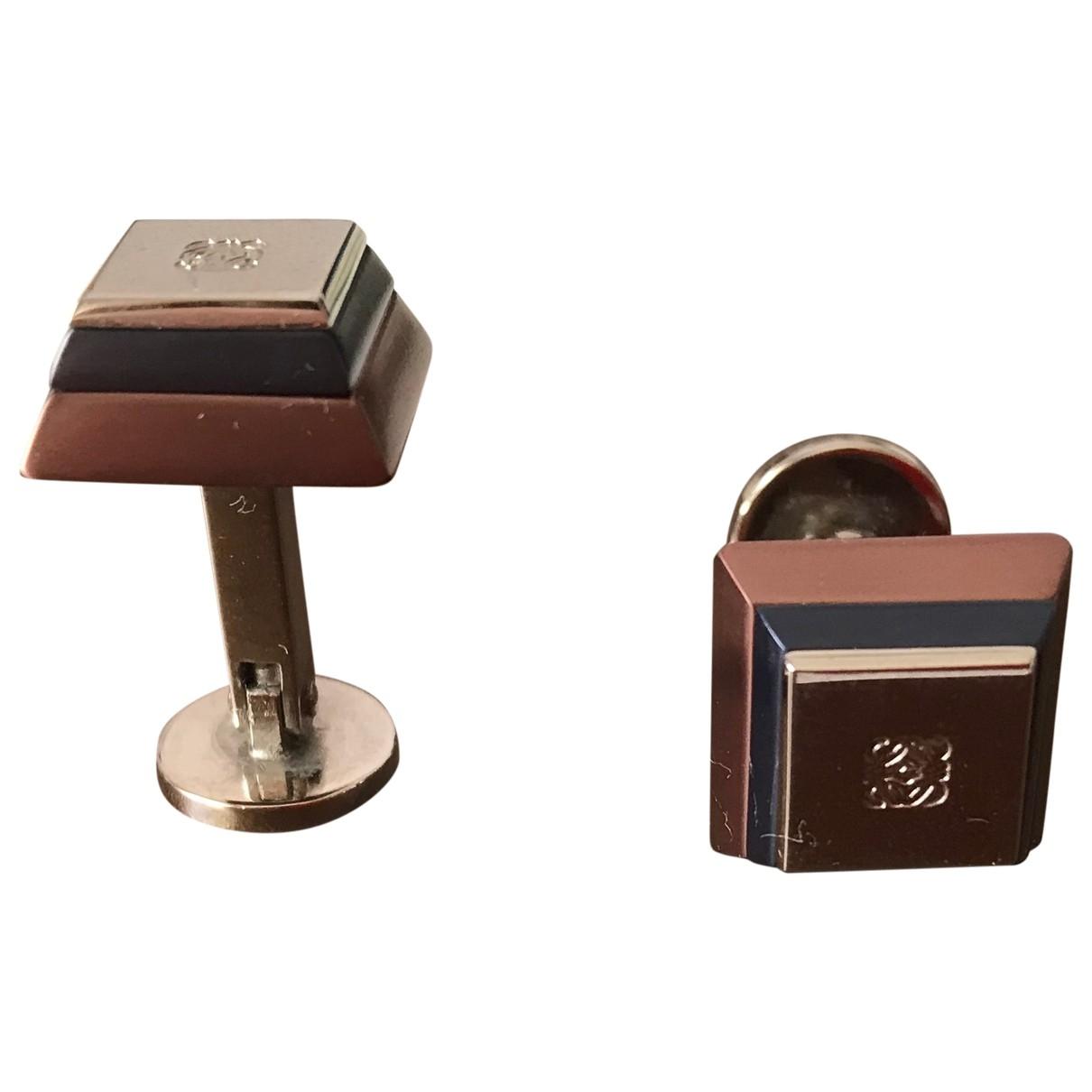 Loewe \N Manschettenknopfe in  Metallic Silber