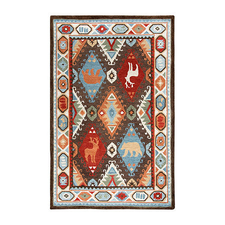 Rizzy Home Northwoods Collection Adamson Hand-Tufted Area Rugs, One Size , Brown
