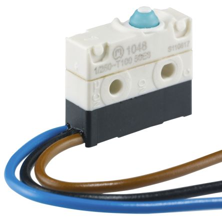 Marquardt SPDT Simulated Roller Lever Microswitch, 10 A @ 250 V ac