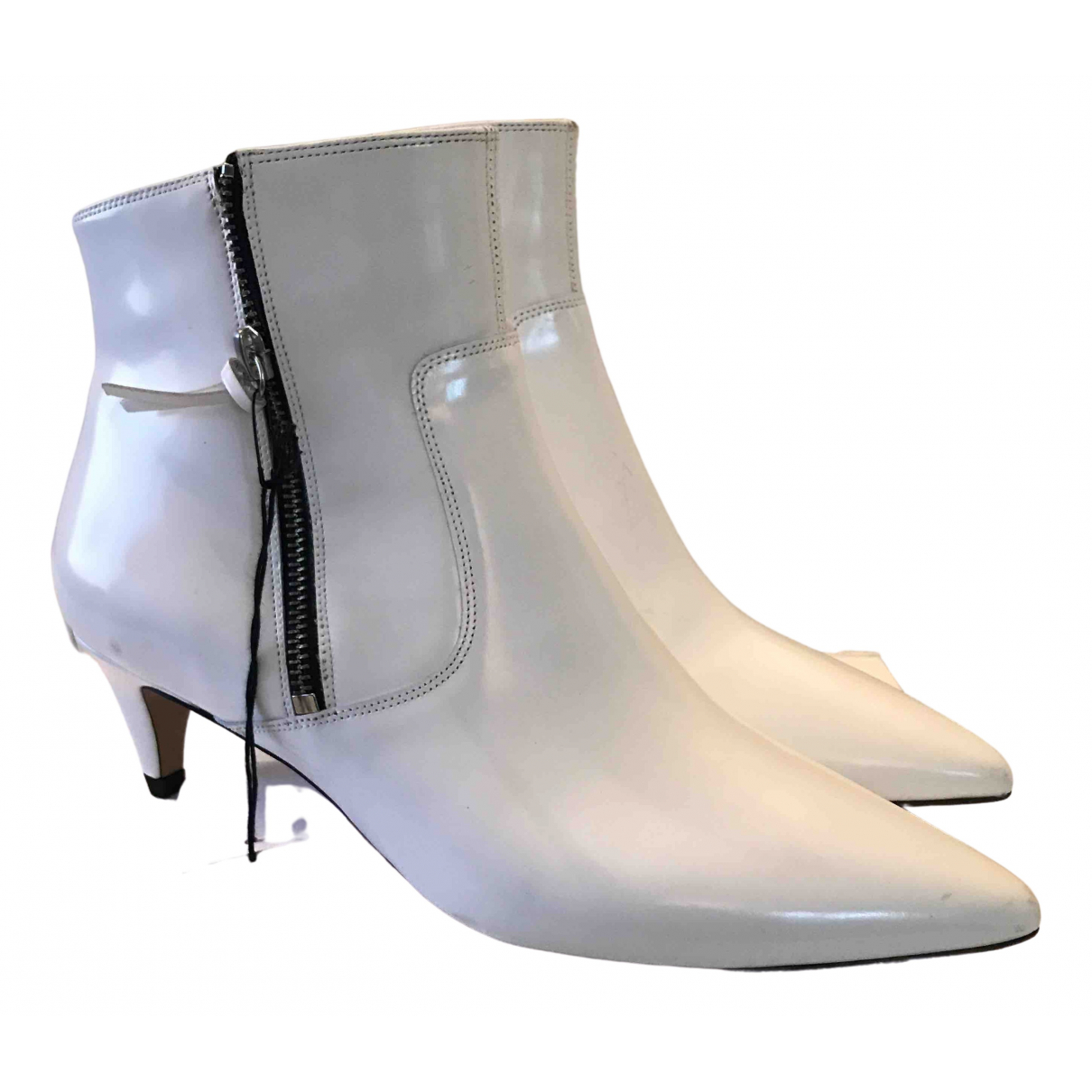 Isabel Marant \N White Patent leather Boots for Women 39 EU