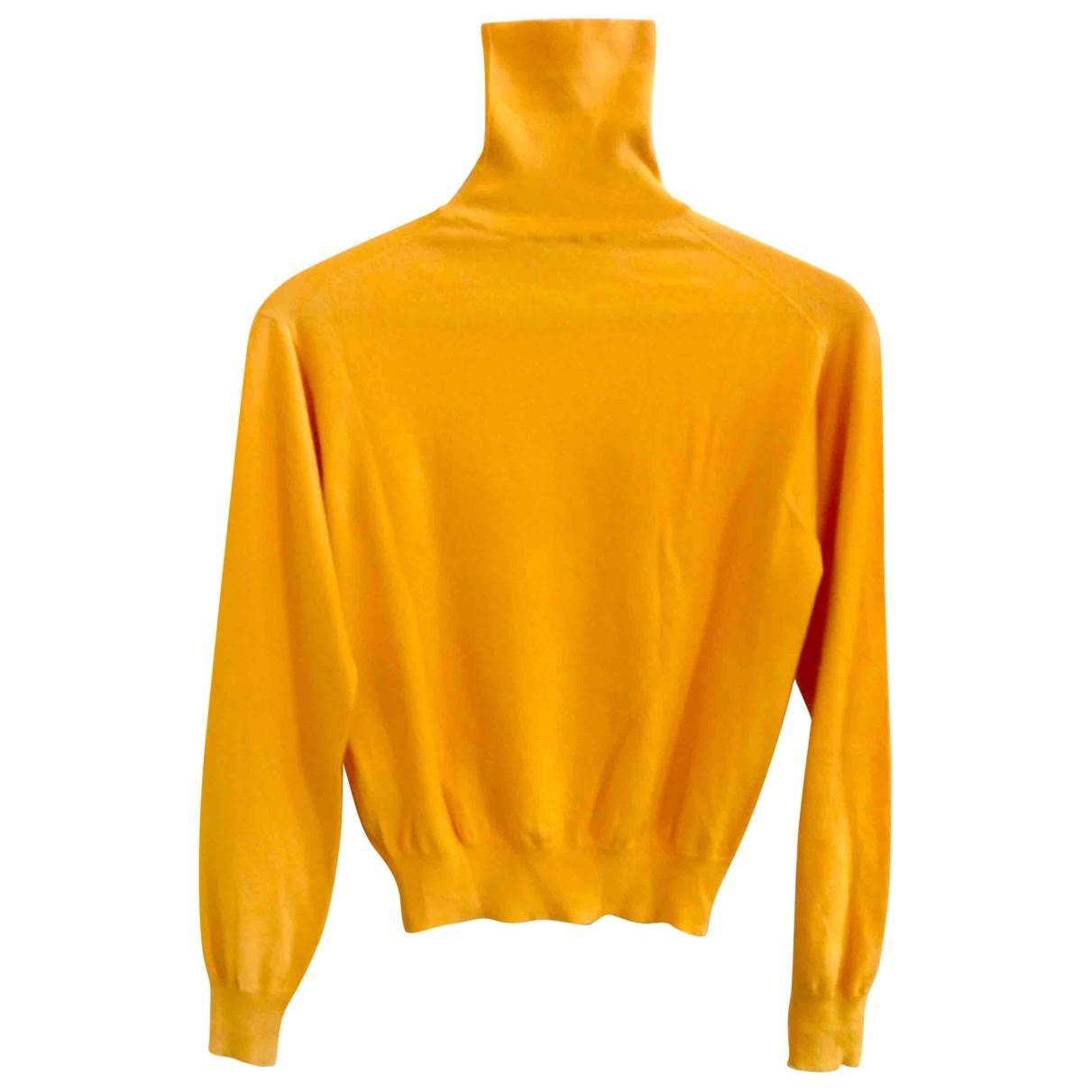 Celine - Pull   pour femme en cachemire - jaune