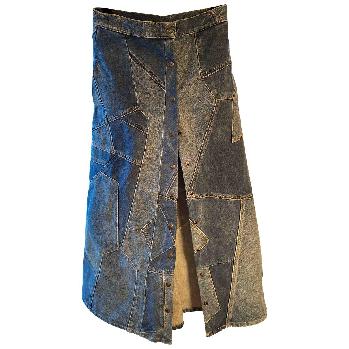 Saint Laurent \N Rocke in  Blau Denim - Jeans