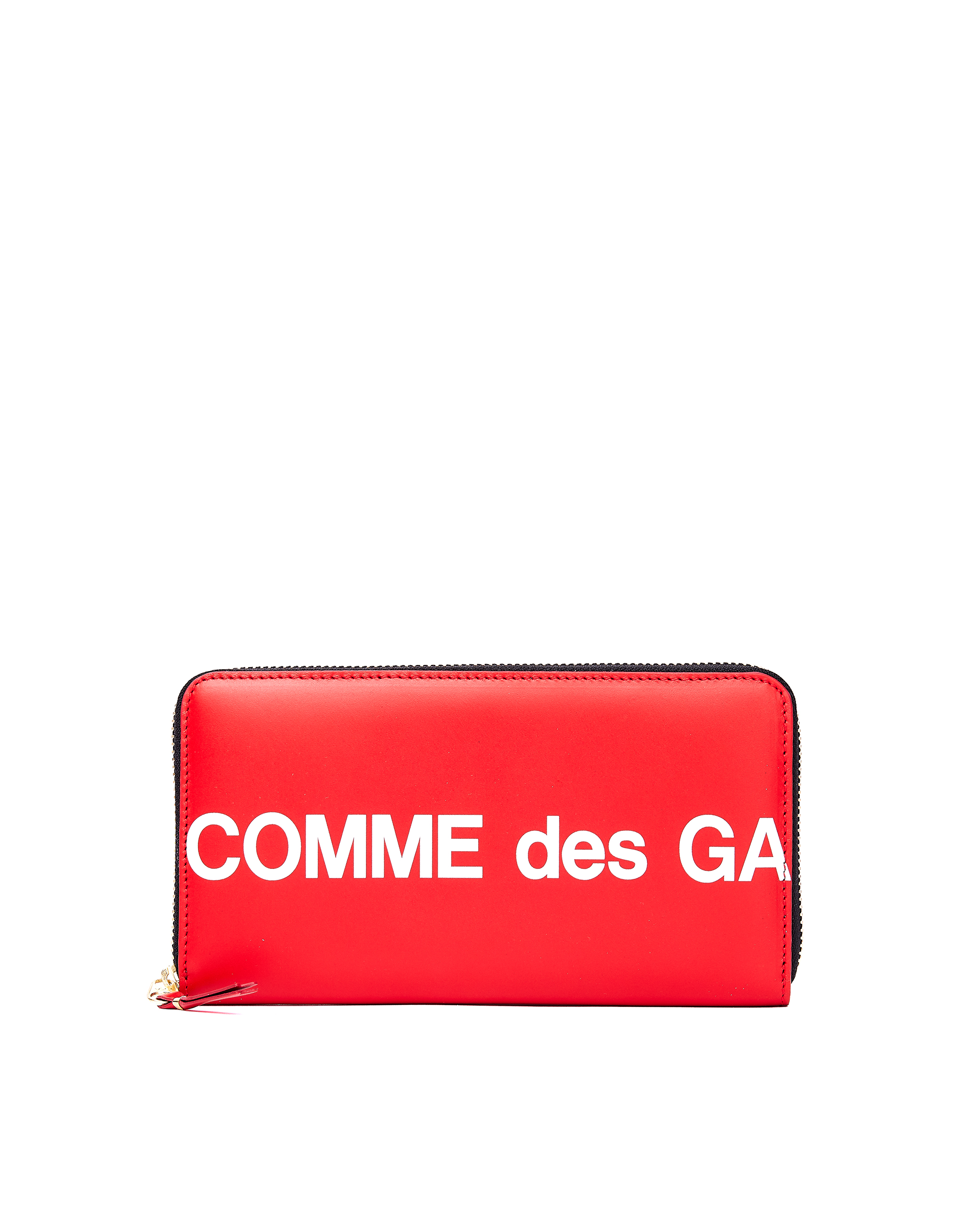 Comme des Garcons Wallets Red Leather Logo Wallet