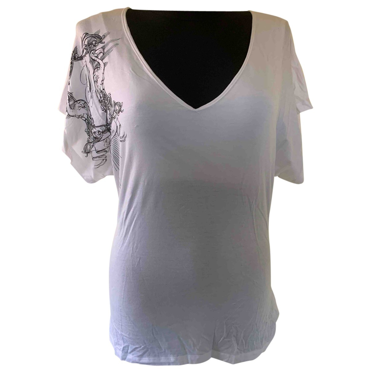 Guess N White  top for Women L International