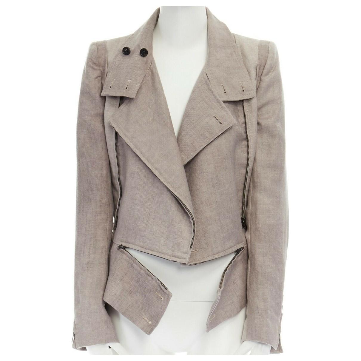 Ann Demeulemeester - Veste   pour femme en laine - beige