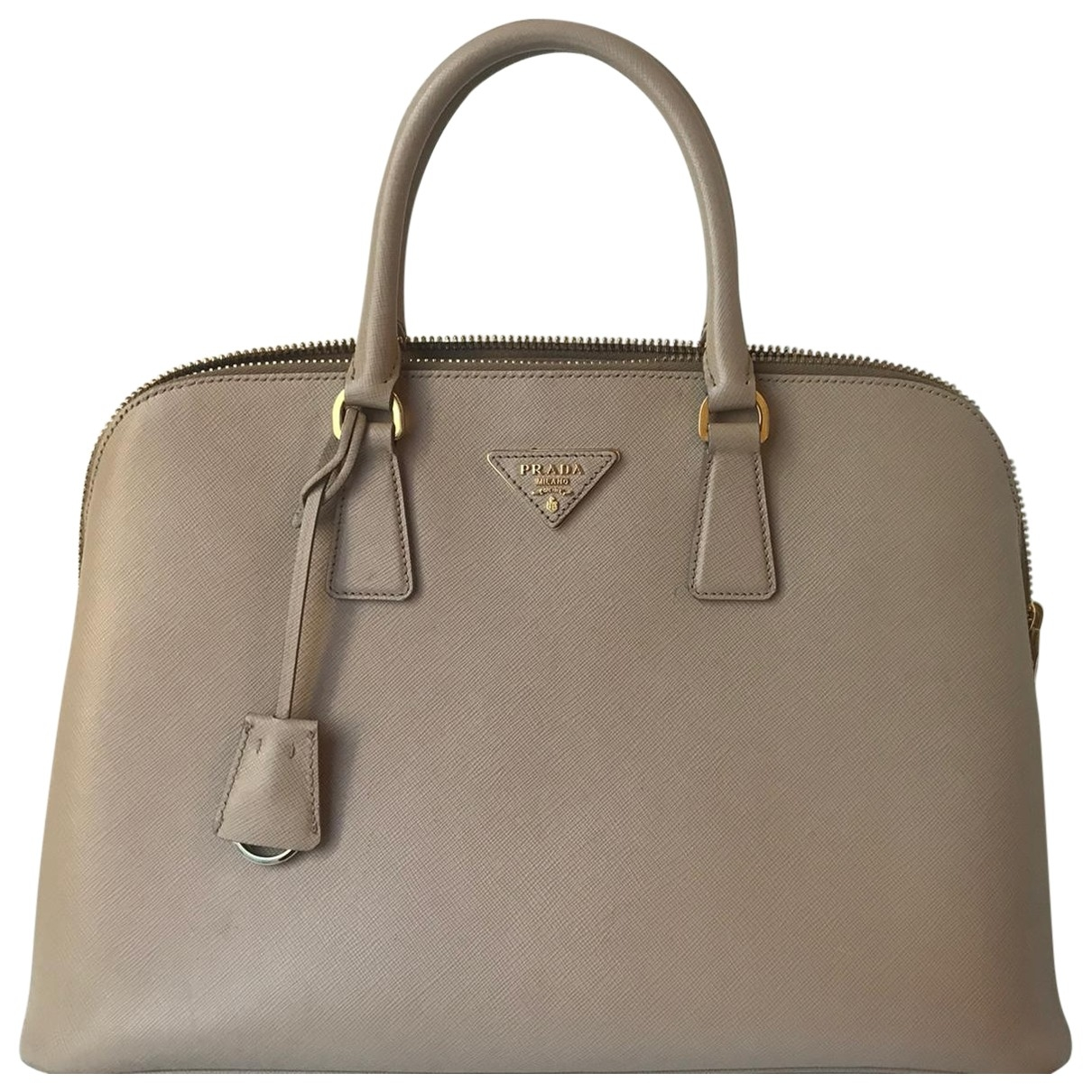 Prada Promenade Grey Leather handbag for Women \N