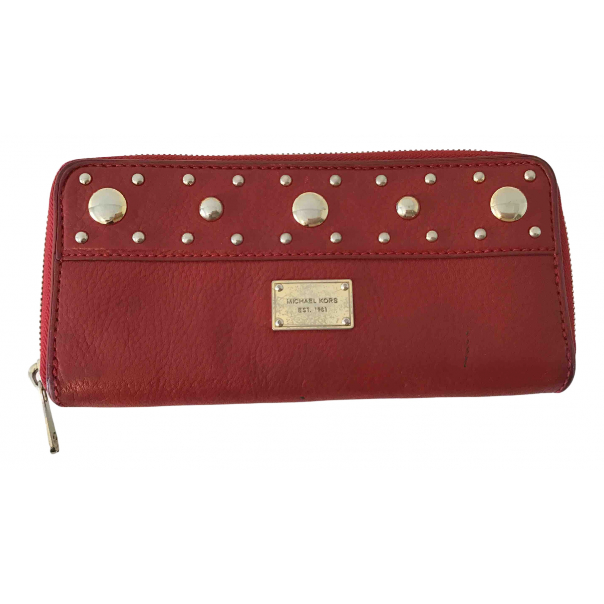 Michael Kors - Portefeuille   pour femme en cuir - rouge