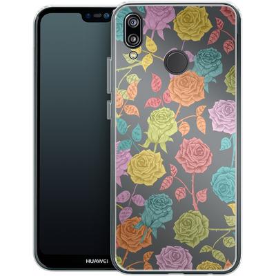 Huawei P20 Lite Silikon Handyhuelle - Roses von Bianca Green