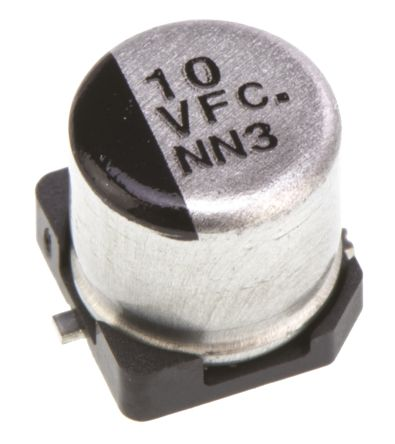 Panasonic 10μF Electrolytic Capacitor 35V dc, Surface Mount - EEEFC1V100R (5)