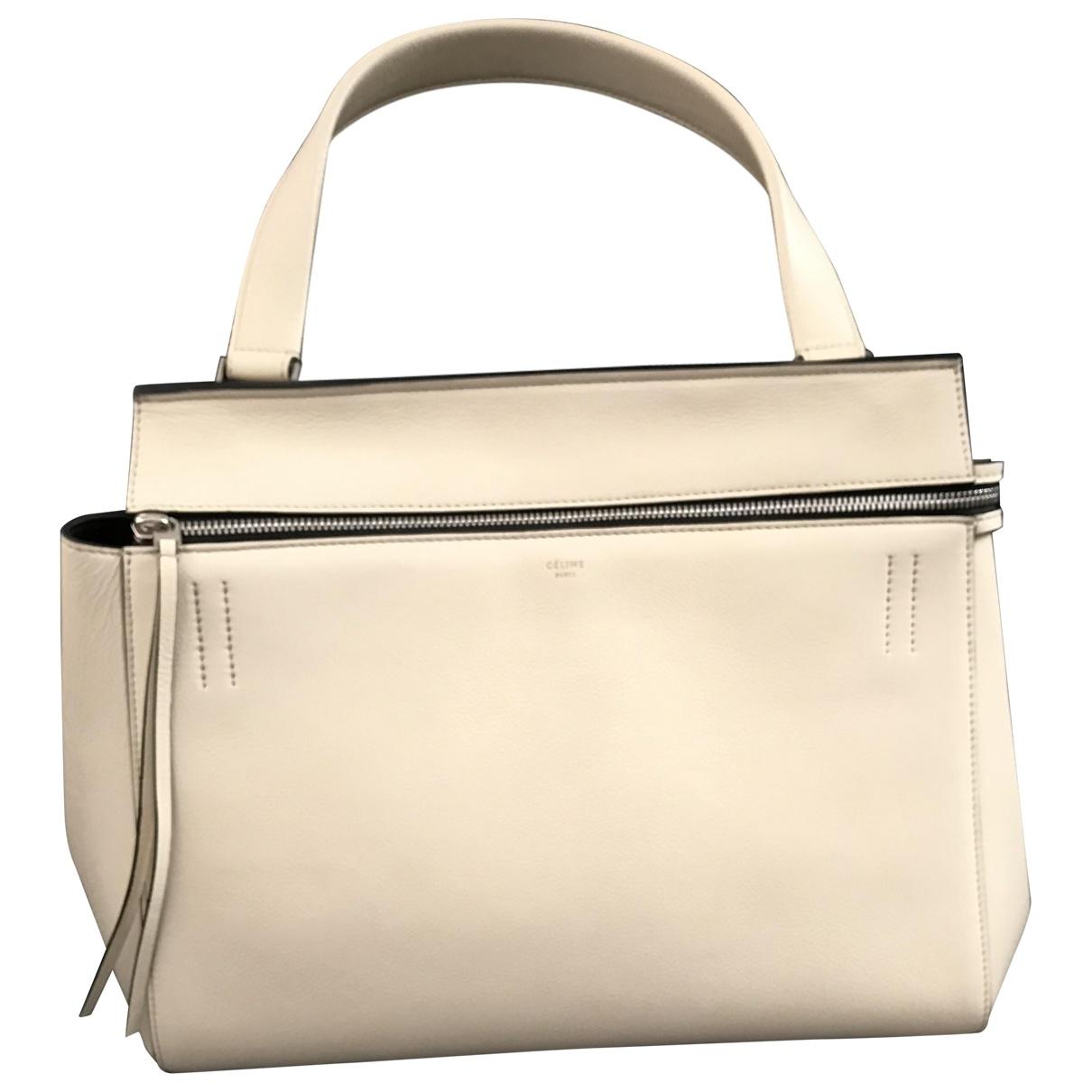 Celine Edge Ecru Leather handbag for Women \N