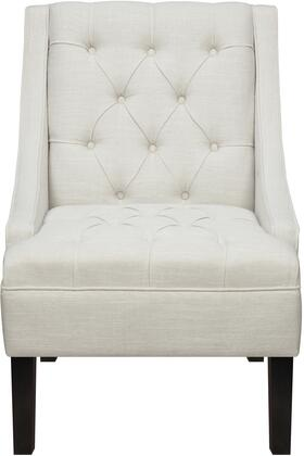 DS-2510-900-402 Scoop Arm Button Tufted Accent Chair with Sharply Tailored Welting  Deep Ebony Legs  Deeply Tufted Back and Seat in Avanti