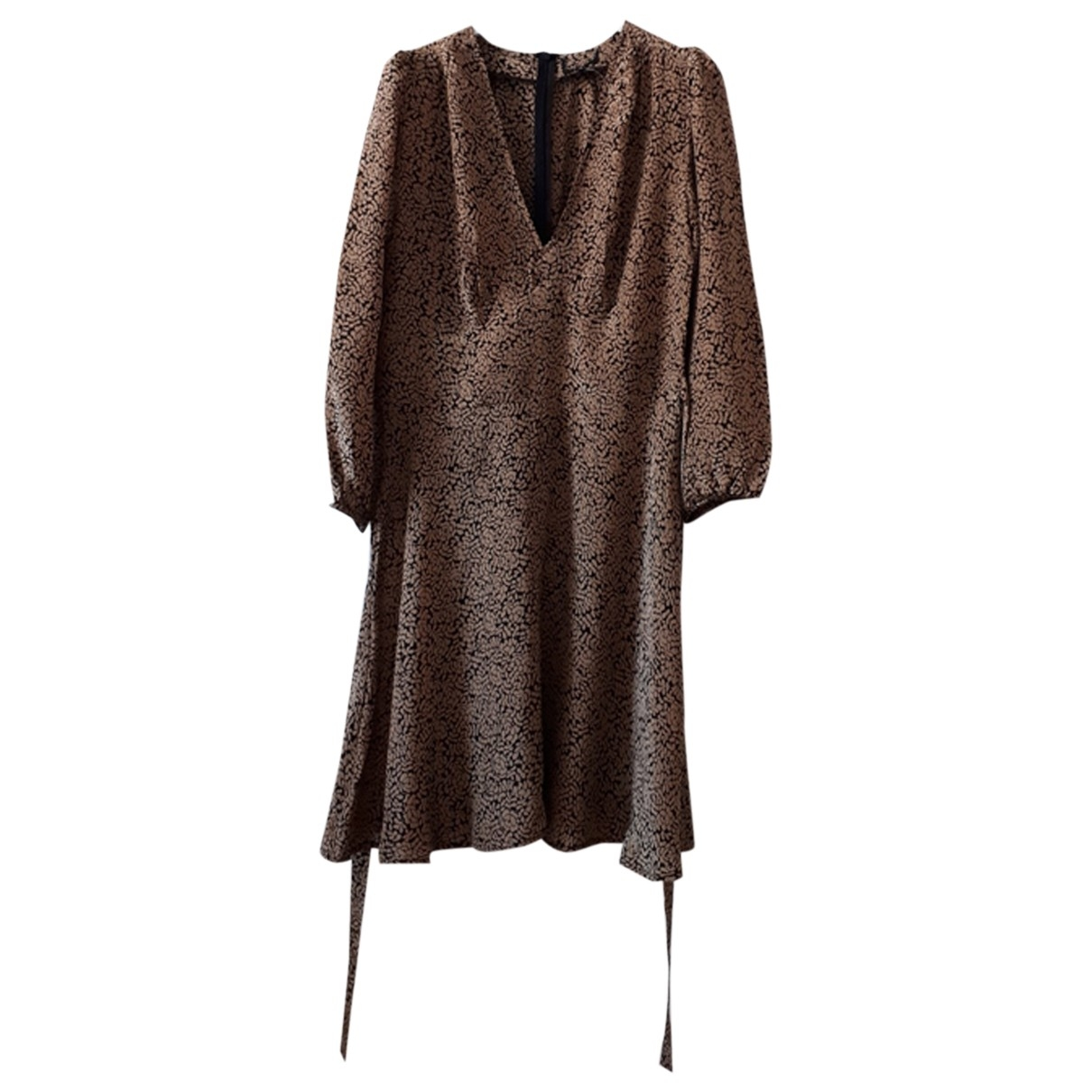 Non Signé / Unsigned \N Brown Silk dress for Women 2 US