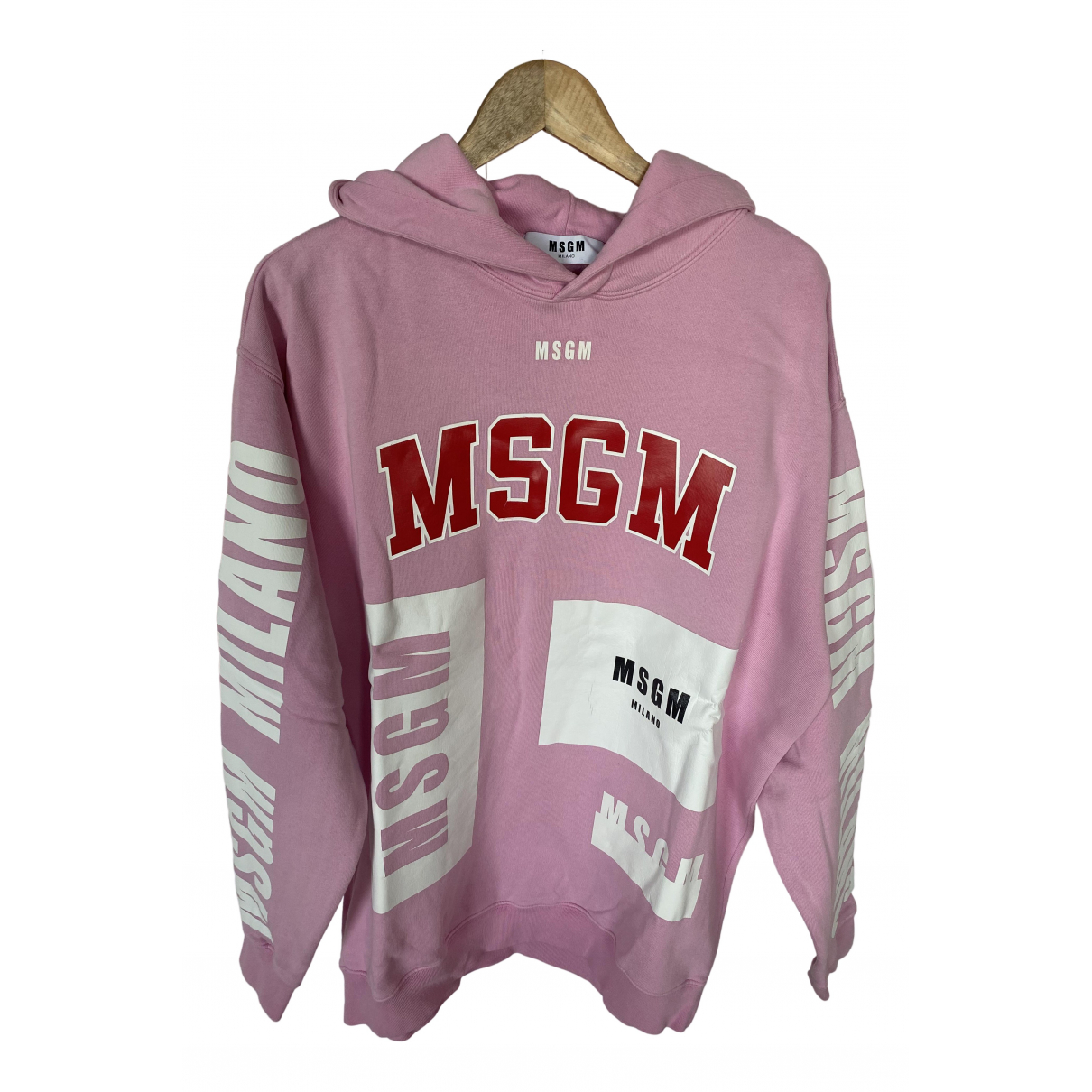 Msgm - Pull   pour femme en coton - rose